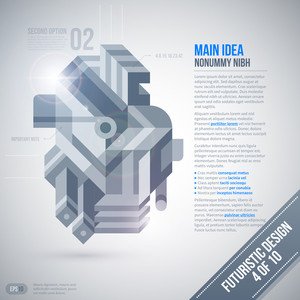 Futuristic Design Template With Geometric Element. 4 Of 10. Eps10.