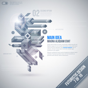 Futuristic Design Template With Geometric Element. 7 Of 10. Eps10.
