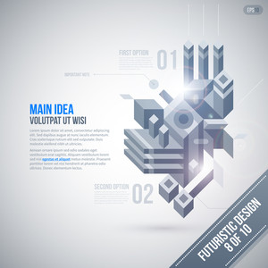 Futuristic Design Template With Geometric Element. 8 Of 10. Eps10.
