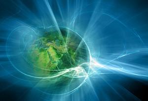 Futuristic Fractal And Earth Design