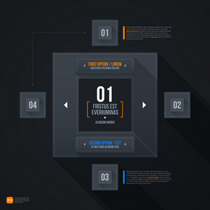 Dark Futuristic Web Template. Eps10