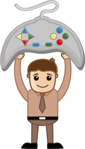 Gaming - Business Cartoons Vectors