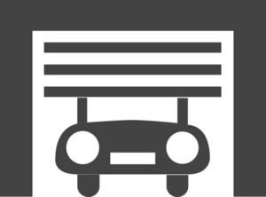 Garage Glyph Icon