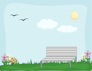 Garden - Cartoon Background Vector