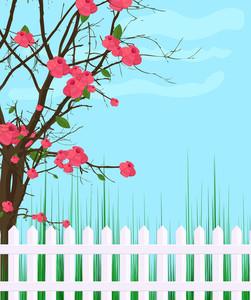Garden Fence Background