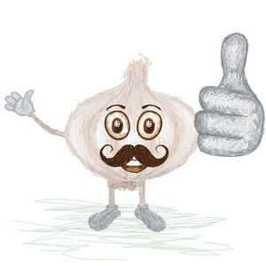 Garlic Bulb Mustache