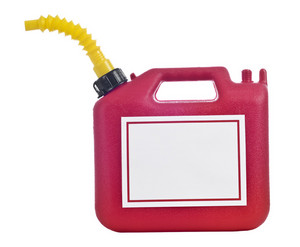 Gas Can With Blank Sign