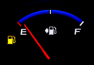 Gas Gauge Reading Almost Empty