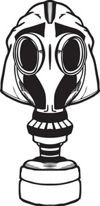 Gas Mask Vector Element