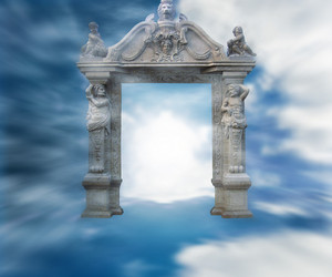 Gate To Heaven Fantasy Background