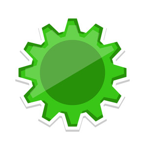 Gear Wheel Vector Element