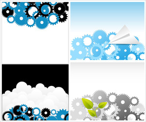 Gears Backgrounds Vectors