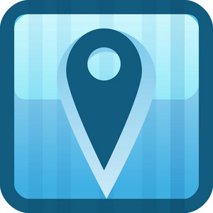 Geolocation Blue Tiny App Icon