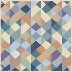 Geometric Retro Background In Pastel Colors
