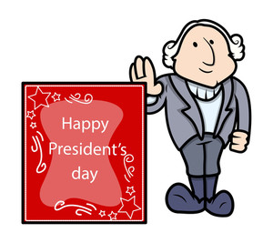 George Washington Presidents Day Vector Illustration