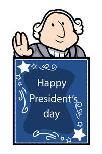 George Washington Presidents Day Vector