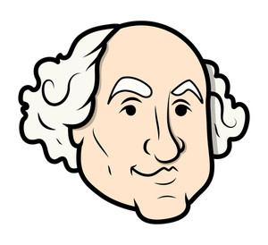 George Washington Vector Cartoon Clip-art Vector