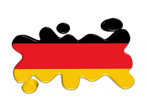 Germany Flag Button 3d