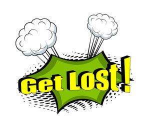 Get Lost Comic Retro Graphic