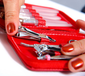 Getting Nail Clippers From A Manicure Set
