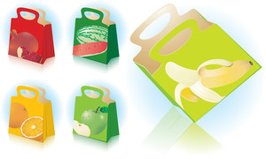 Gift And Shopping Bags. Vector.