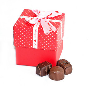 Gift Box And Chocolates