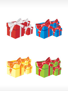 Gift Box Vector Icon Set