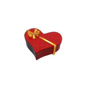Gift Box With Heart Shape 3d Render
