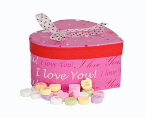 Gift Box With Valentine Candy