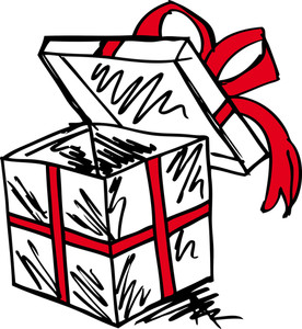 Gift Boxes Sketch. Vector Illustration