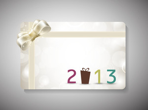 Gift Cards For New Year And Merry Christmas