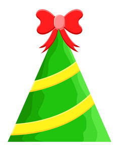 Gift Christmas Tree Vector
