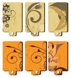Gift Tags Vector Set