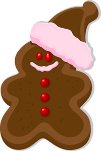 Gingerbread Man - Christmas Vector Illustration