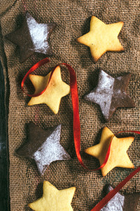 Gingerbreads Cookies Star Shape