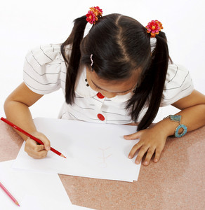Girl About To Draw A Great Picture