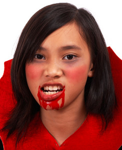 Girl Dressed As A Vampire