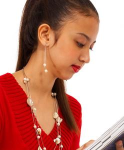 Girl Improving Her Education