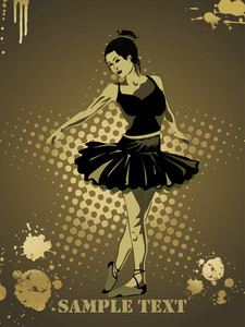 Girl In Black Dress Dancing