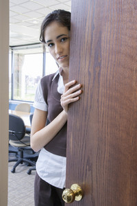 Girl in office space