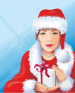 Girl In The Santa Costume