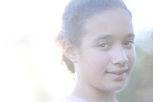 Girl on summer sun