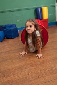 Girl playing in kindergarten
