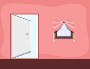 Girl Room - Cartoon Background Vector