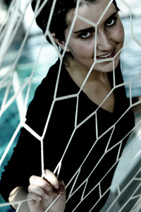 Girl stuck in net