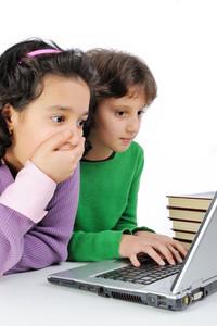 Girlfriends on laptop