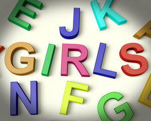 Girls Written In Plastic Kids Letters