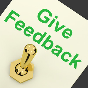 Give Feedback Switch Showing Opinions And Surveys