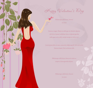 Glamour Background Vector Illustration