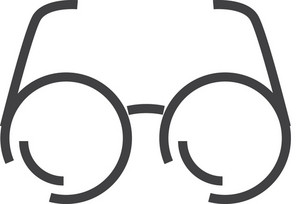 Glasses Minimal Icon